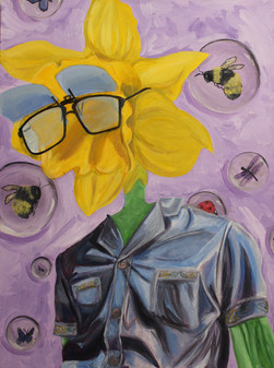 Flower Dad; Surreal Portrait
