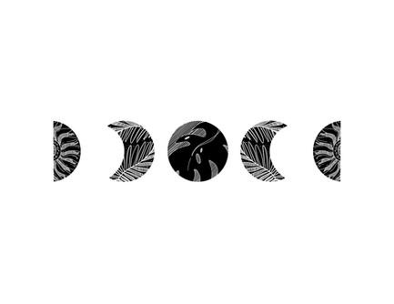 Moons; Tattoo Design