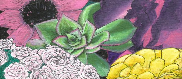 Flower Zoom; Collage