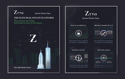 Zyyo; Sample Packet Page Design