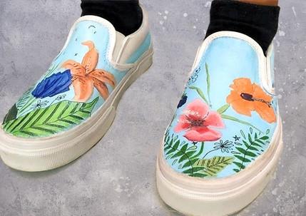 Shoe Custom: Wild Flowers