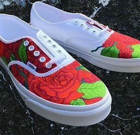 Shoe Custom: Roses