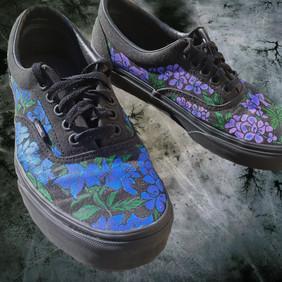 Shoe Custom: Pop Flowers
