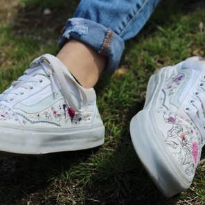 Shoe Custom: Floral Lines