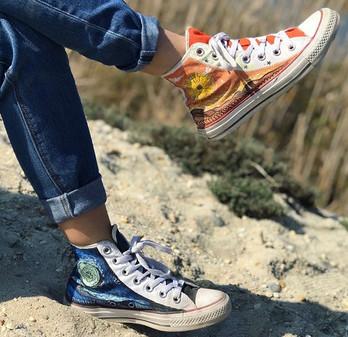 Shoe Custom: Starry Night