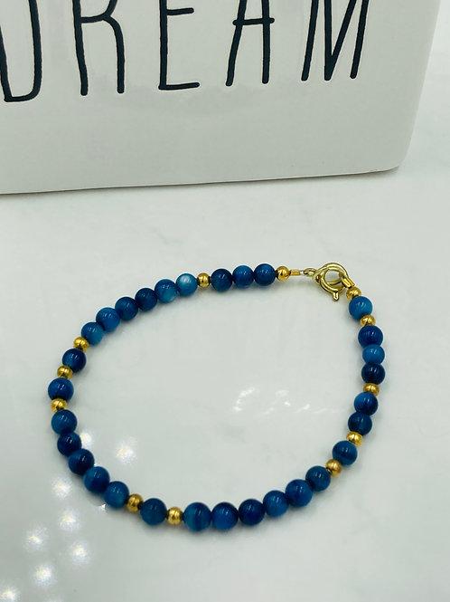 Blue Lapis and 14K Gold Filled Bracelet