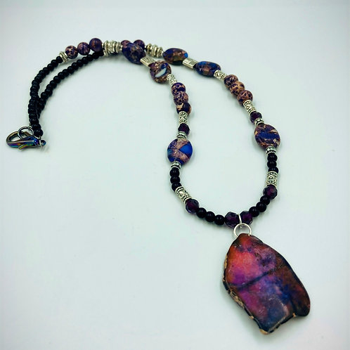 Purple Imperial Jasper Statement Necklace