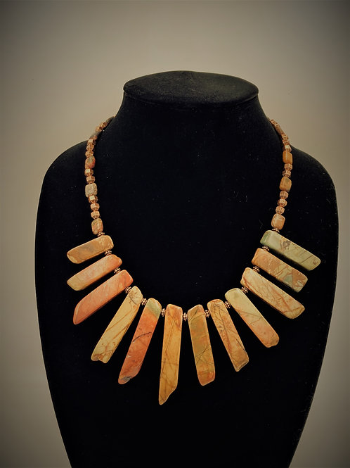 Red Creek Imperial Jasper Statement Necklace
