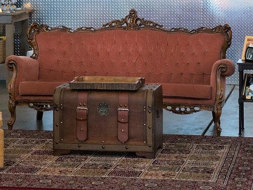 Blush Velvet Couch