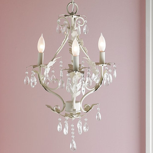 Vintage Cream Star Chandelier