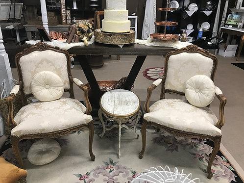 Queen Ann Cream Chair