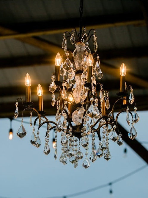 Large Bronze Glass dividers Chandelier