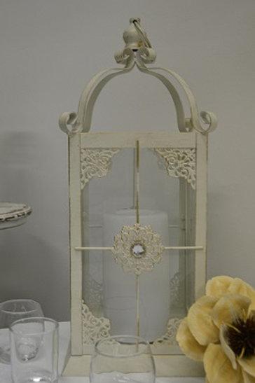 Jeweled Ivory Lantern