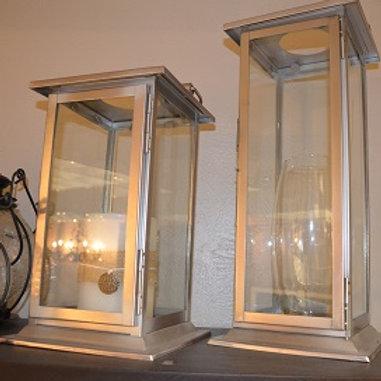Satin Nickel Lantern Various Sizes
