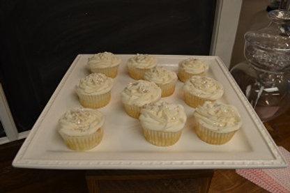 White Square Cake Plate