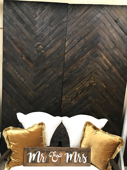 Chevron Wood Backdrop