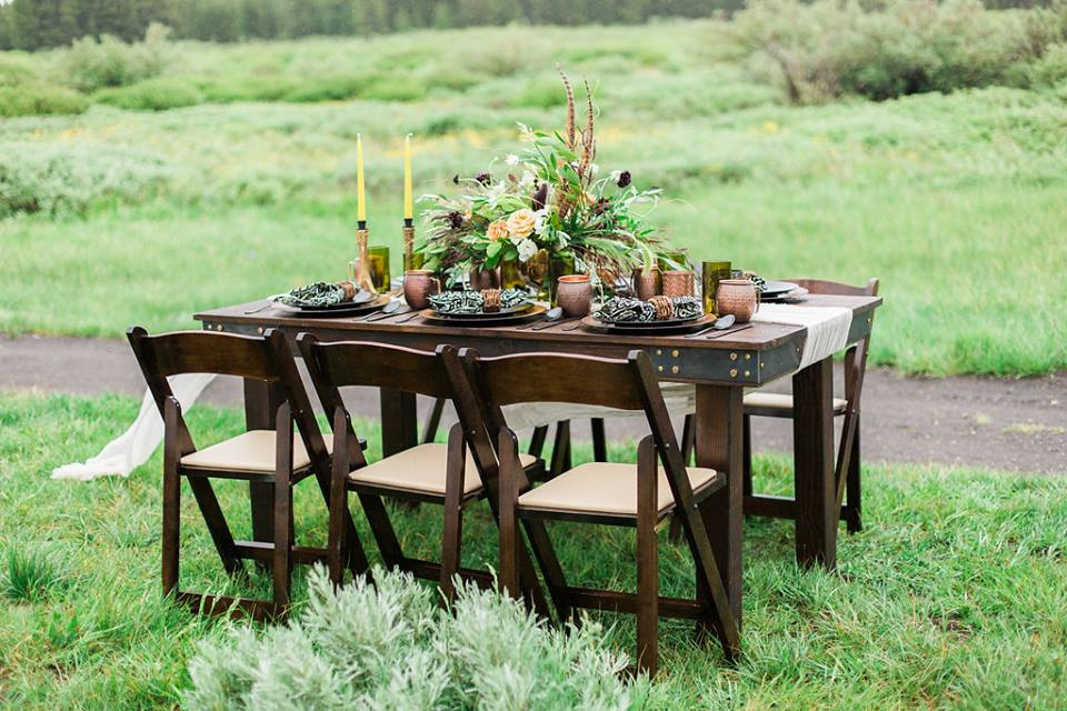 fruitwood chairs farm table