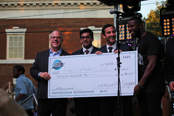 Winners of the 2016 Virginia Velocity Tour's Charlottesville pitch competition - Sept. 23, 2016 #2