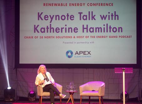 Keynote Speaker Katherine Hamilton Expounds the State of Renewable Energy