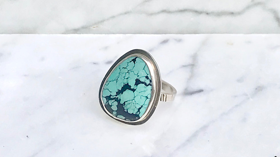 Turquoise Storm Ring size 9