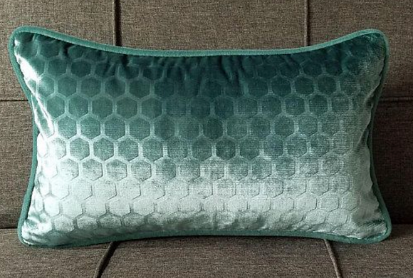 Velvet Hexagon Lumbar Pillow