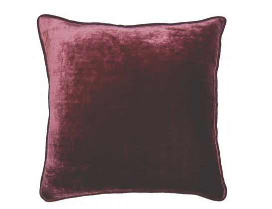 Burgundy Velvet Pillows