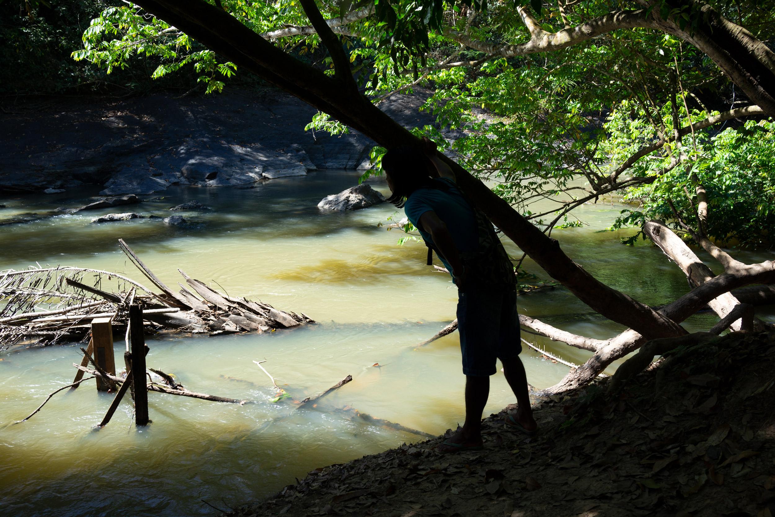 Rio Cateté pollué