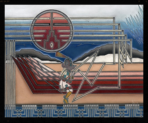 Zuni Dancer  Print 4/50