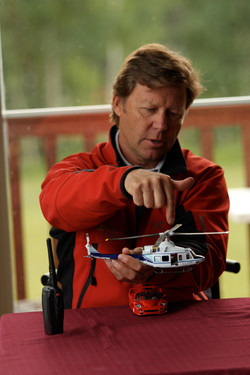 Director's aerial briefing