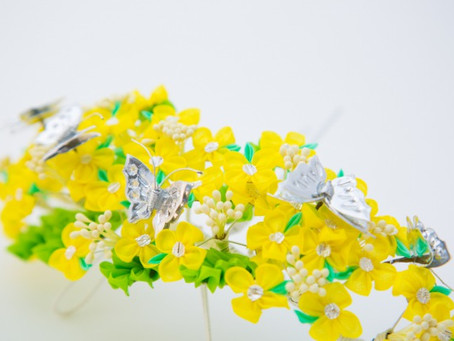 53. Head Dress of Canola Flower