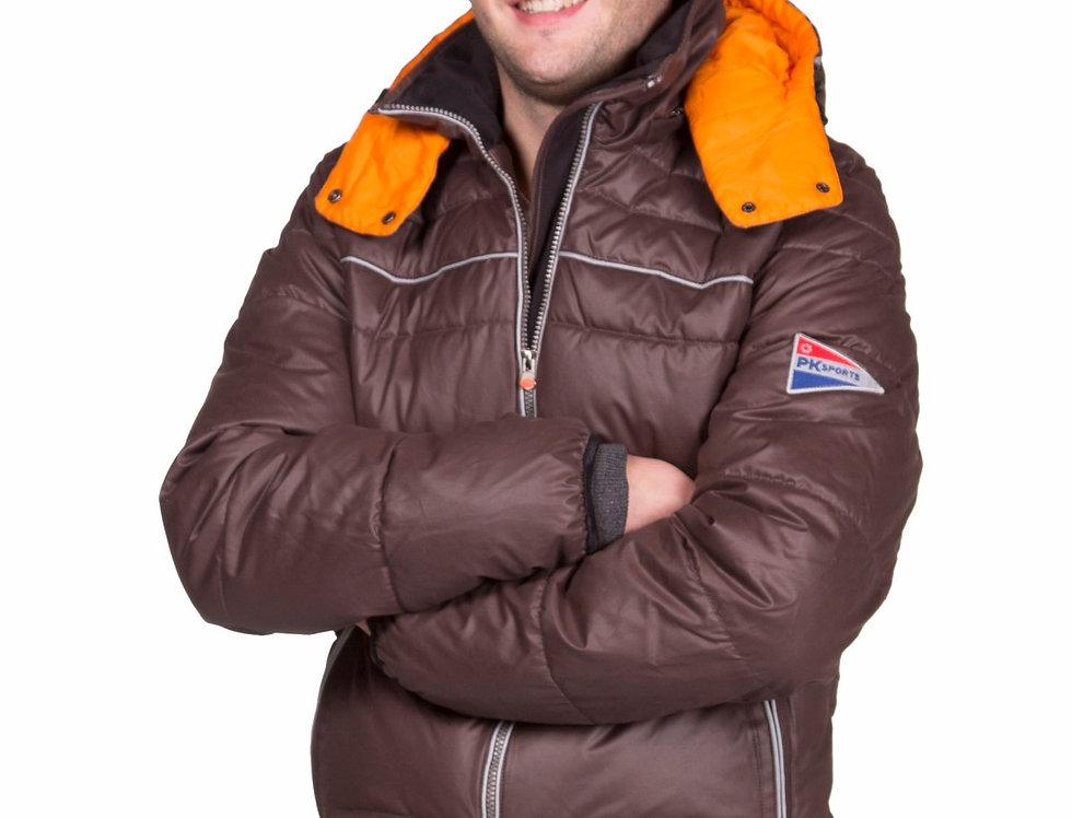 Winterjas Heren Indigo Brown