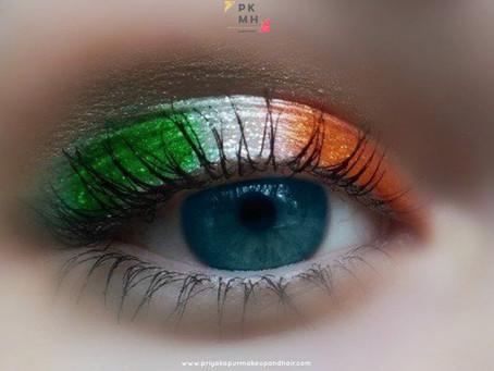 Tricolour Eyes & Nails