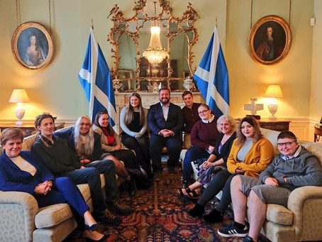 Meeting more of the 'Who Cares? Scotland' team and First Minister of Scotland Nicola Sturgeon