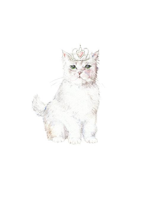 Princess Cat Ltd. Edition Watercolor Art Print