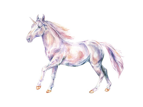 Unicorn Limited Edition Print 8.5x11 Watercolor - Choose from 2 options