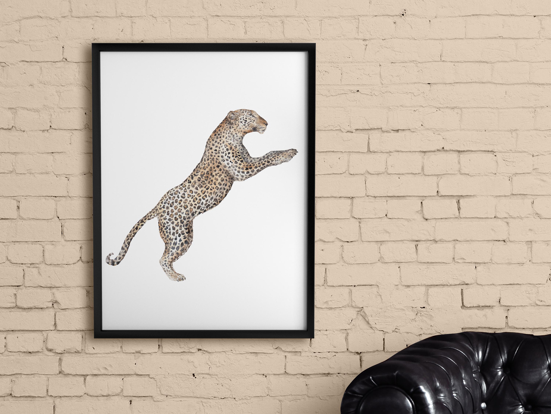 leopard scene