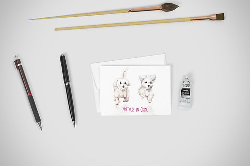 Partners in Crime Greeting Card Cute Couples Love