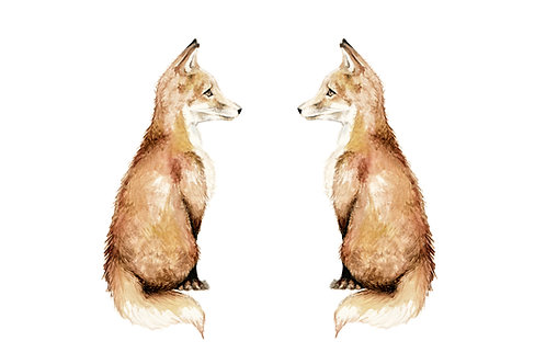 Fox Cubs Ltd Edition Print 8.5x11 Watercolor - choose from 3 images