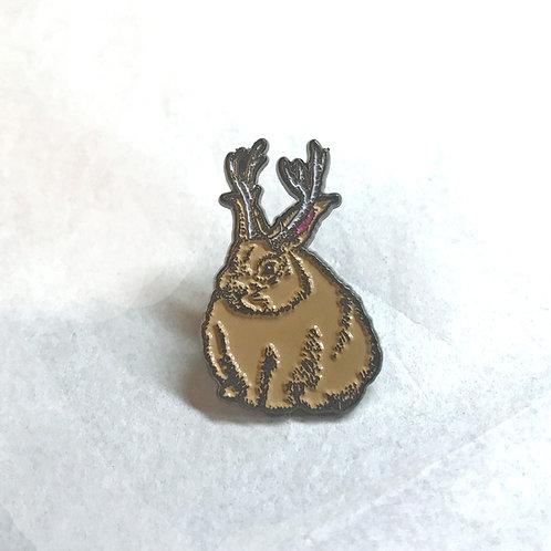Jackalope 1.25 Inch Enamel Pin