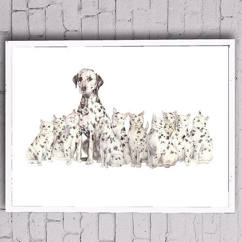 Copycat Dalmatian Poster