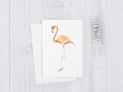 Fancy Flamingo Greeting Card