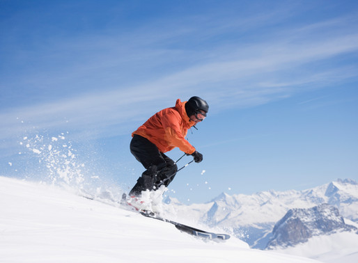 Ski fahren im Urserntal