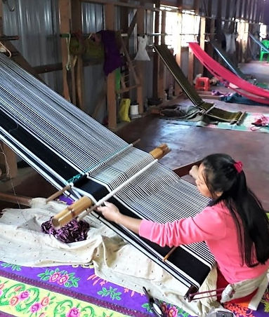Backstap weaving in Northeast India