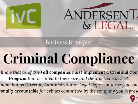 Desayuno informativo sobre Compliance Penal