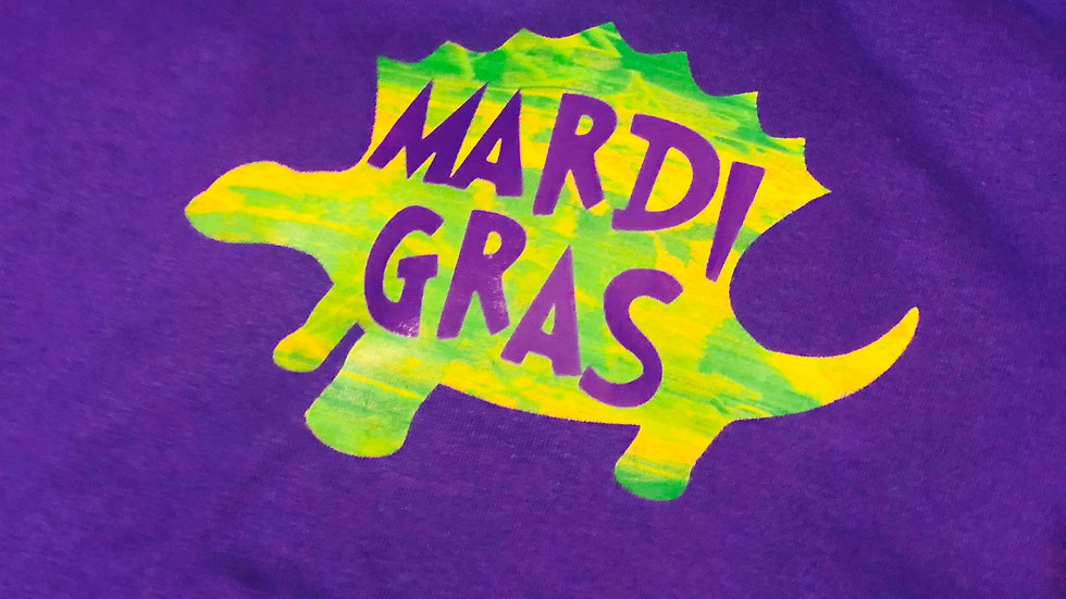 Large Purple Mardi Gras Shirt by Colorstorm Customs