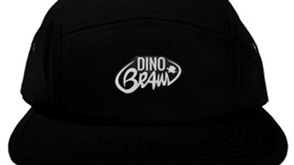Black Five Panel Logo Hat