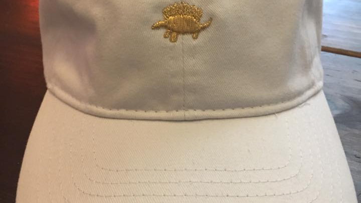 White / Gold Dad Hat