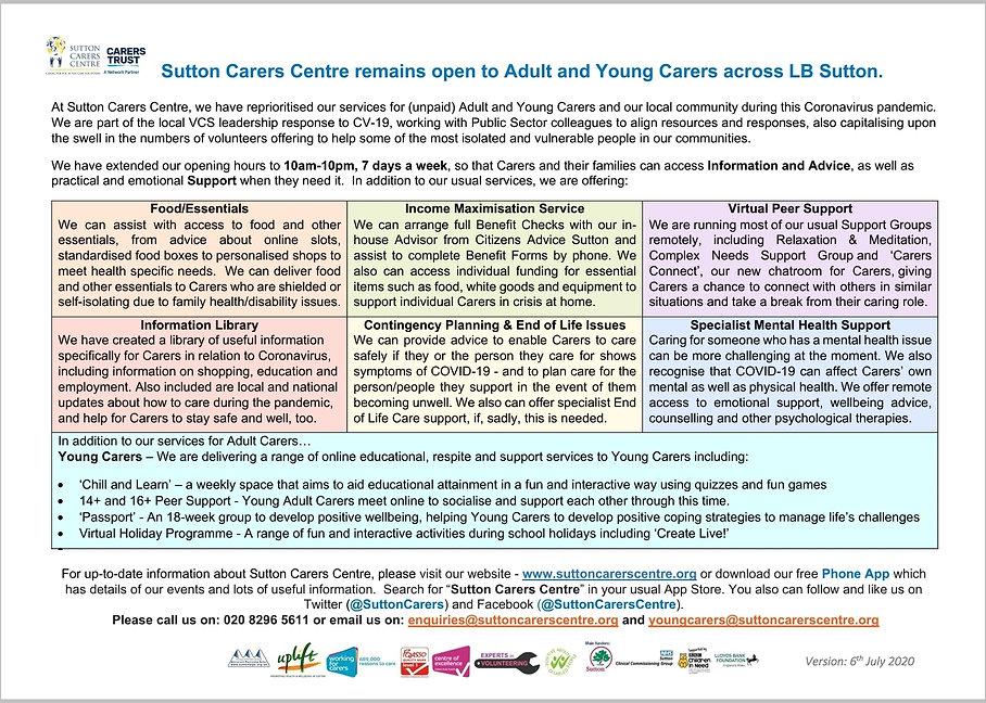 Sutton Carers Centre CV-19 k06.07.2020..