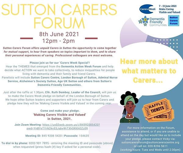 Sutton Carers Forum 8th June 21 v.13.05.