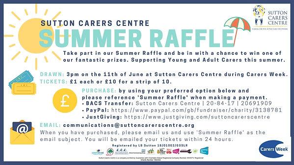 Sutton Carers Centre Summer Raffle Poste